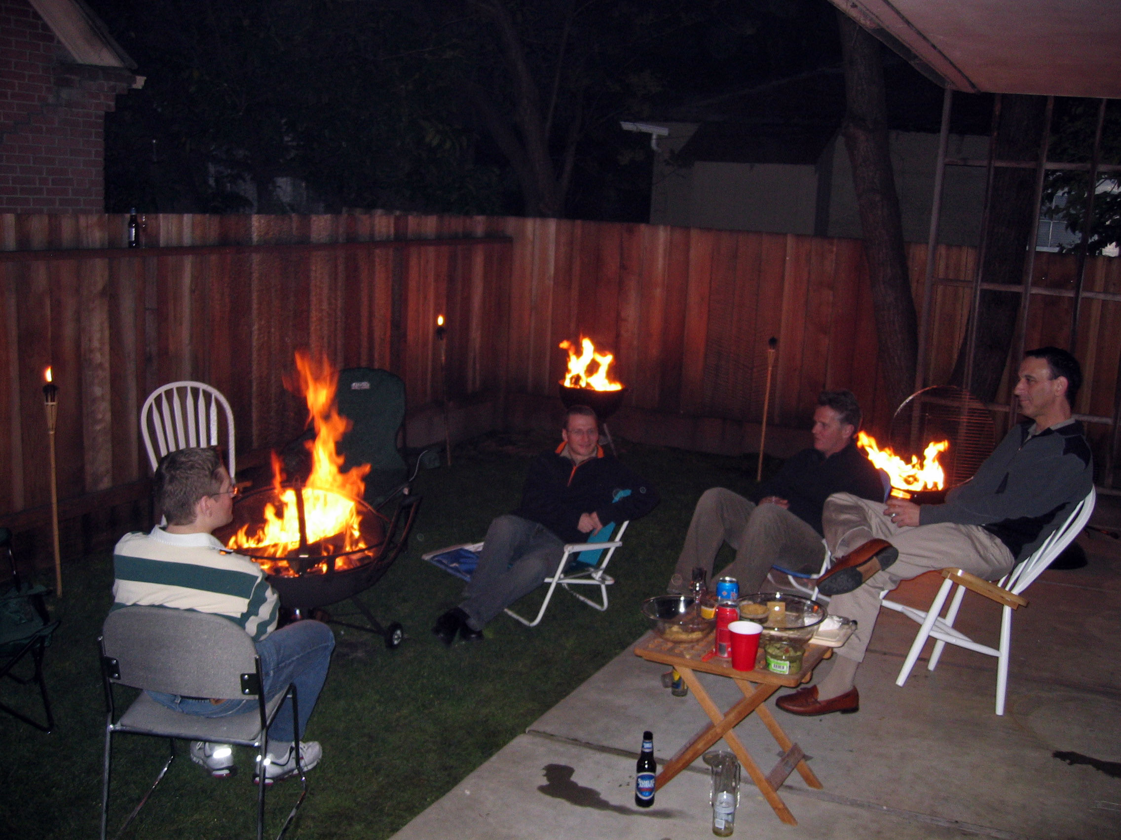 backyard bbq with firepit 2006