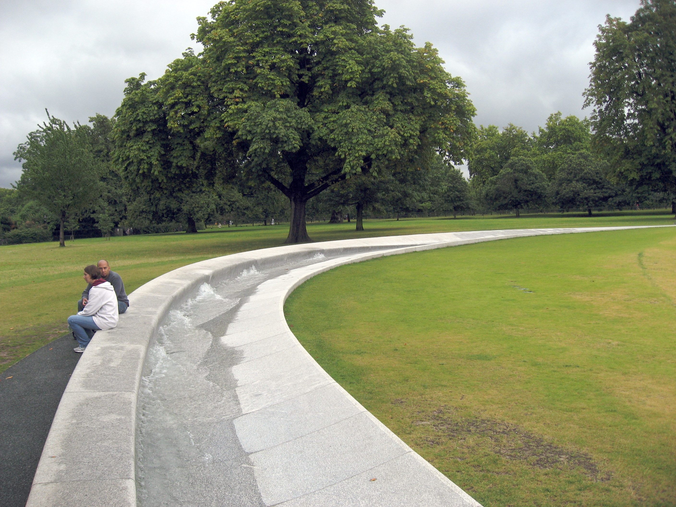 Water fountains hyde park - Another Picture Of A Section Of The Princess Diana Memorial Fountain In Hyde Park London