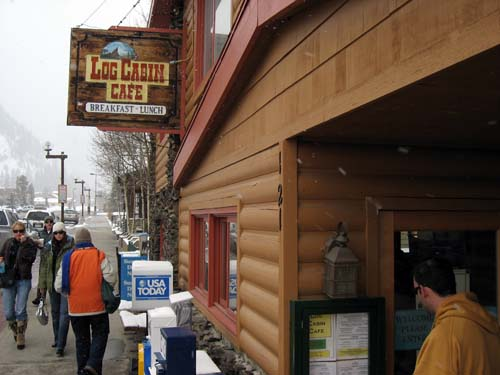 2008 breckenridge vail copper ski trip for Log cabin cafe