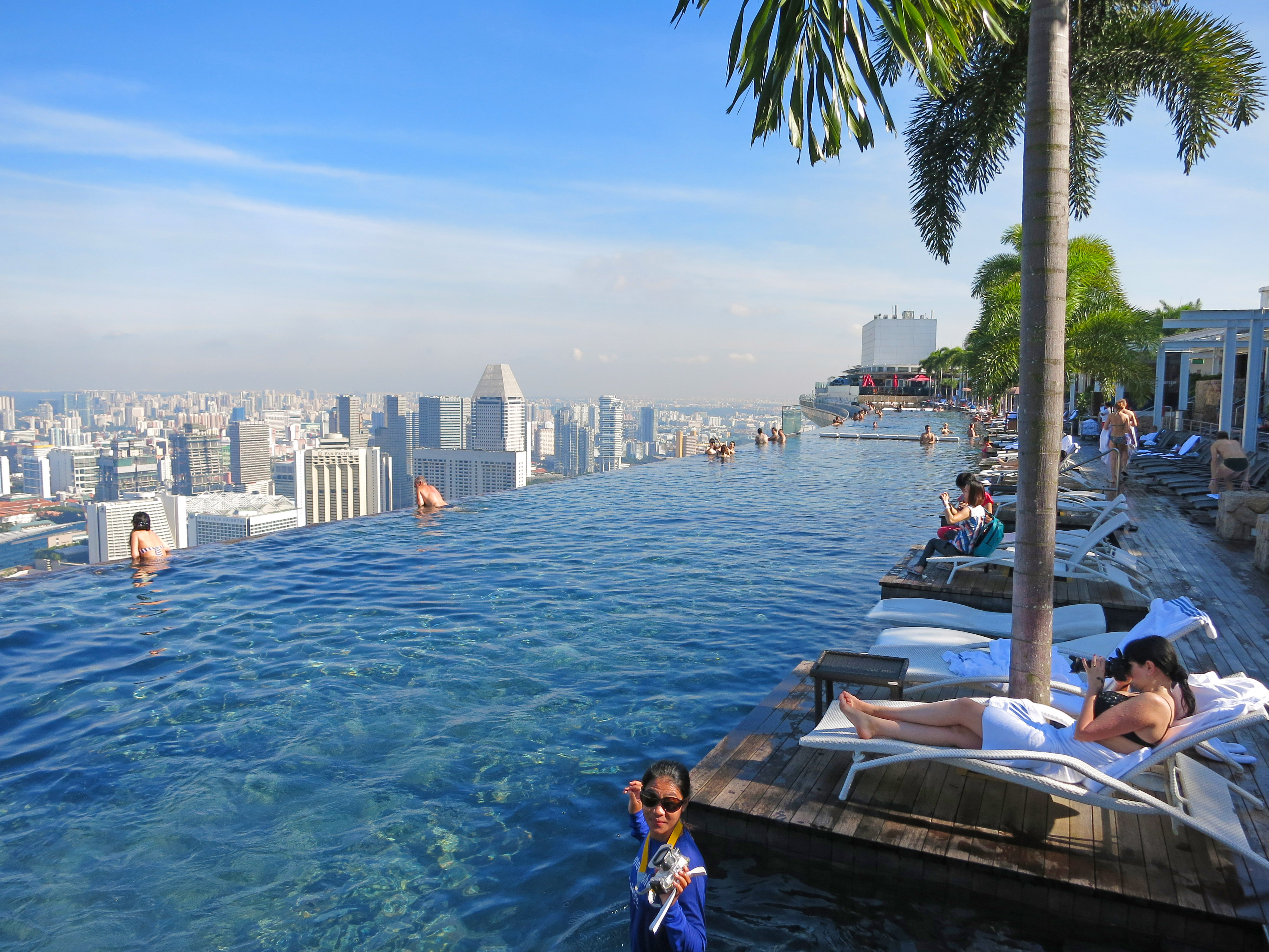 2013 maldives and singapore trip - Singapore marina bay sands infinity pool ...