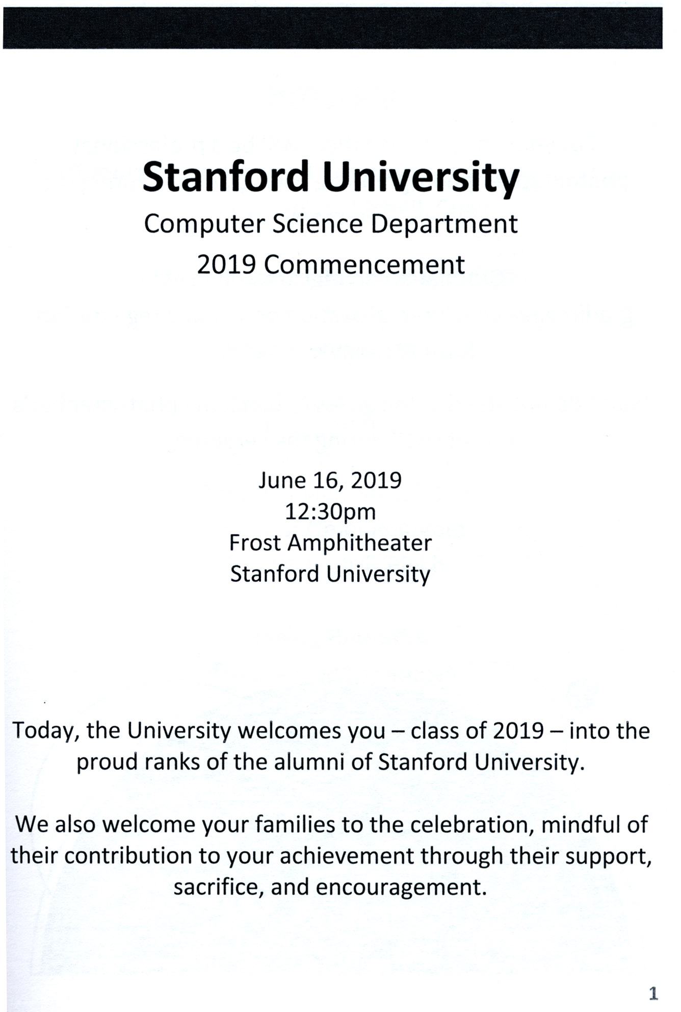 2019 Eli Echt-Wilson Stanford Graduation