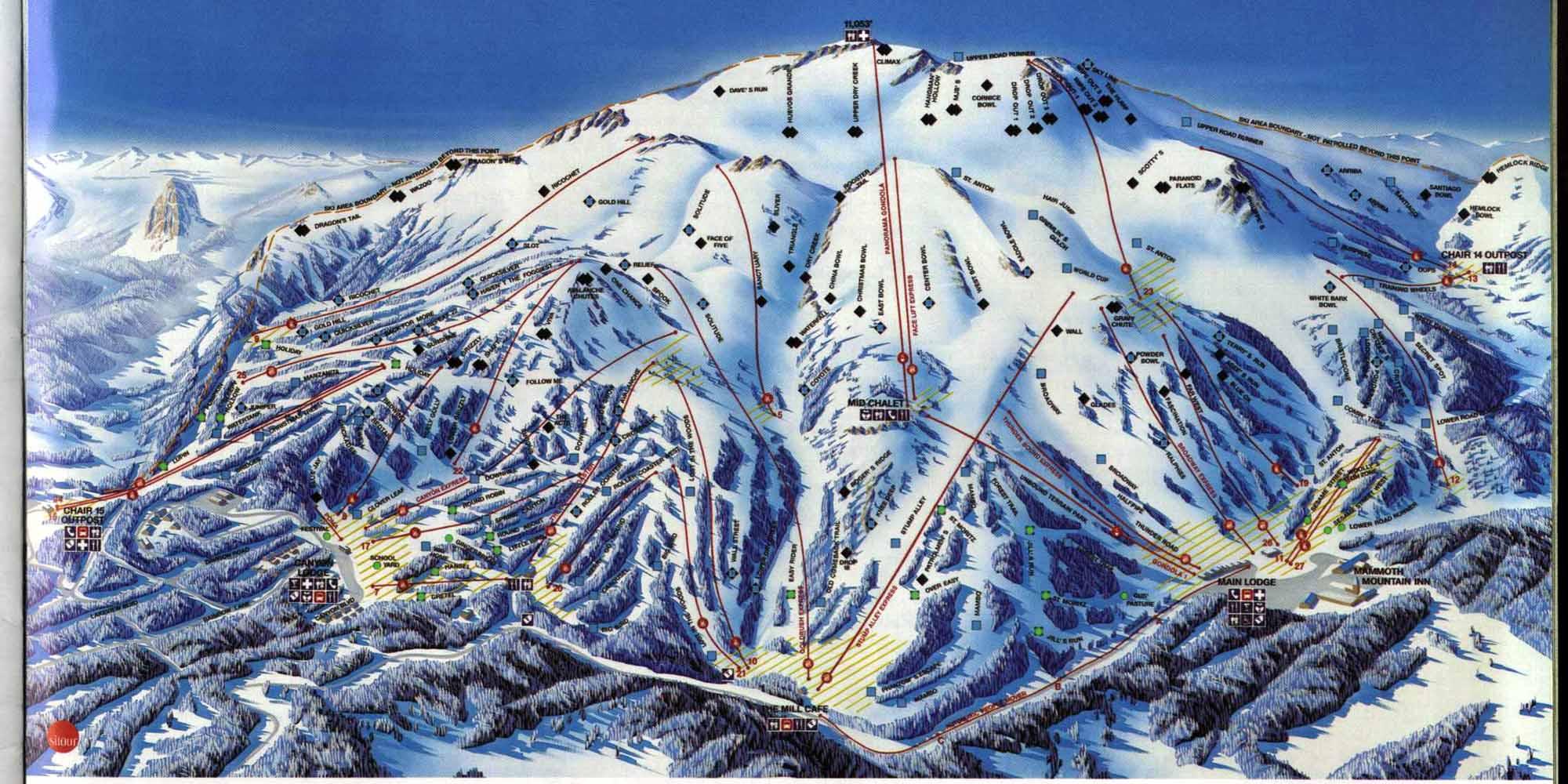 Skiing In California Map.Mammoth Ca Ski Resort