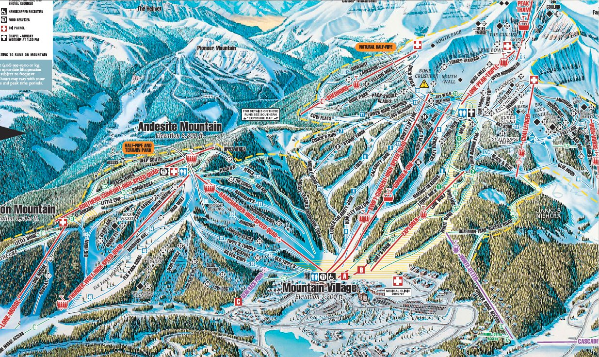 Skiing Big Sky, Montana, 2005 on montana resort towns, mt. snow trail map, montana average temperatures by month, mt. rose ski area map, great divide ski map, montana ski areas, montana hotels map, montana ski towns, new york city tourist attractions map, mt. baldy ski trail map, montana whitefish mountain resort, tremblant canada map, red lodge ski resort map, mt spokane ski map, montana road conditions map webcams, red lodge trail map, resorts in montana map, montana snotel data, montana scenic drives map, montana hiking map,