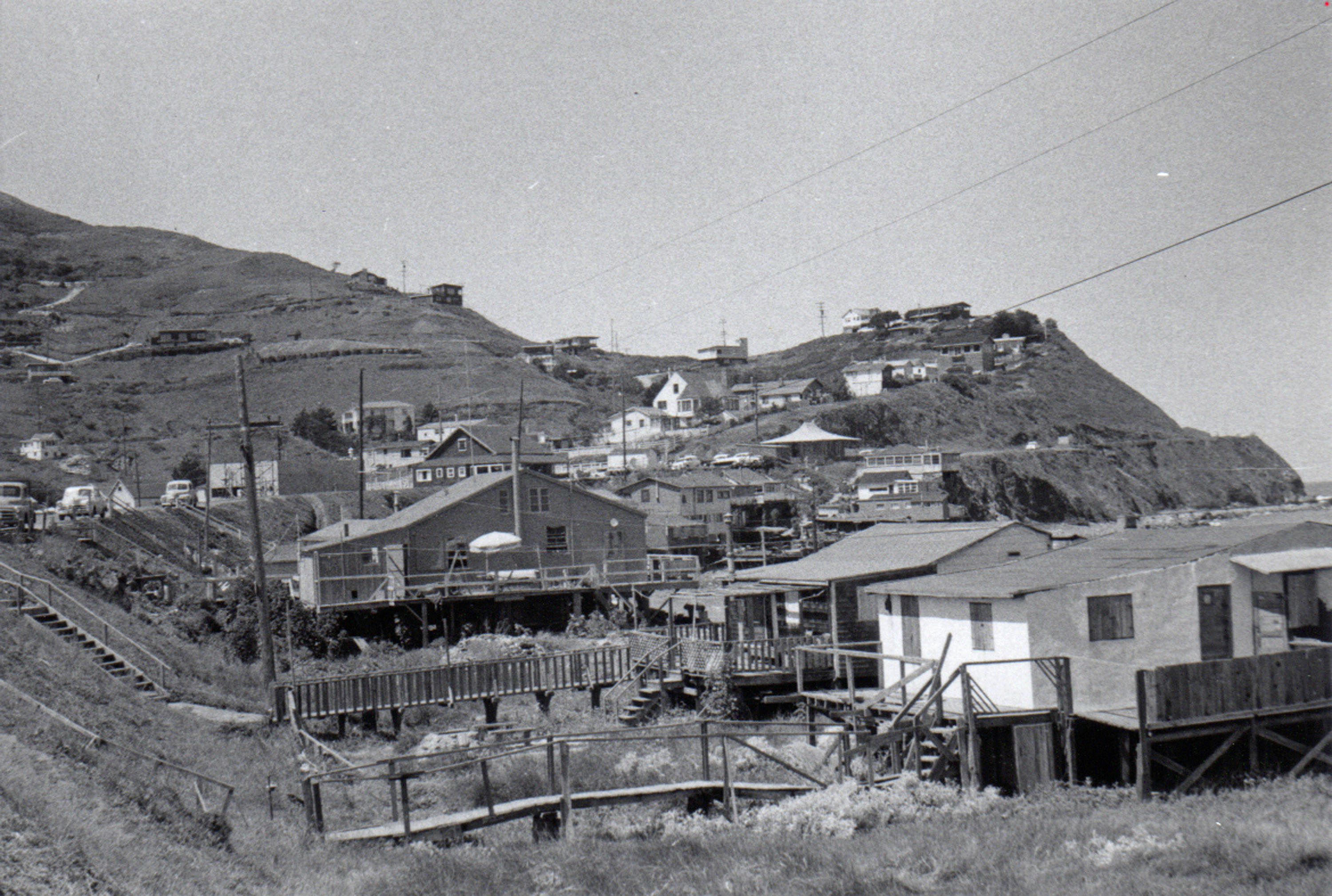 Tobin train station built for the ocean shore railroad for Pacifica house
