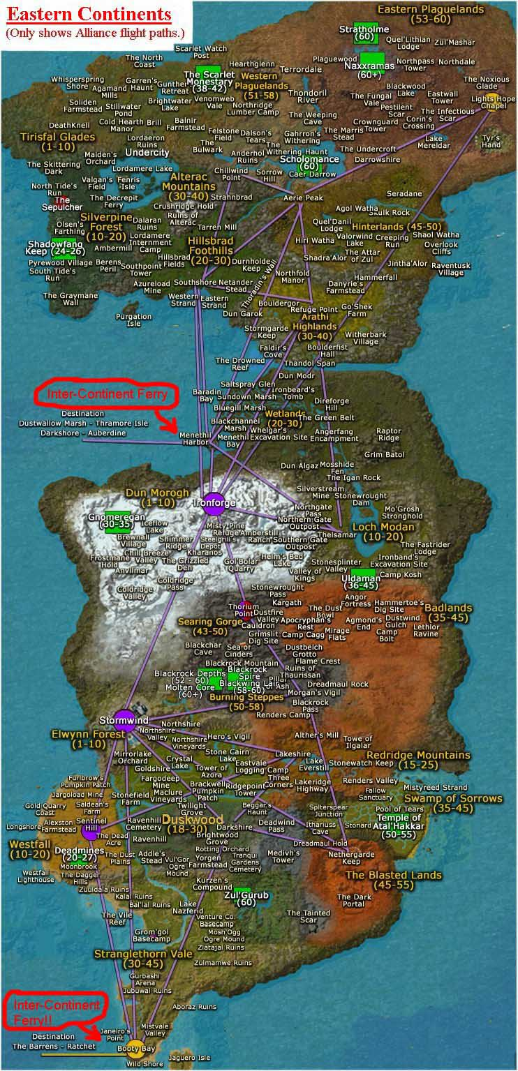 Map Locations World Warcraft